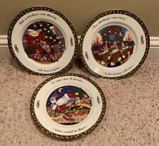 "International CHRISTMAS STORY 10 3/4"" Dinner Plates Set of 3 Different  Series 1"
