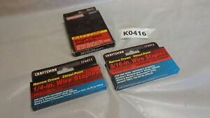 Lot of 3 - Craftsman Staple Gun Staples & Brads (K0416-4)
