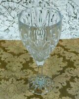 "Set of 4 Vintage Heavy Cut Glass Wine Glasses 7 1/2""  Tall"