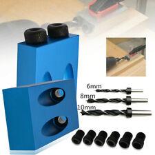 1 set 15° Pocket Hole Screw Jig w/Dowel Drill Carpenters Wood Joint Set Tool New