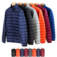US Men's Packable Parka Lightweight Down Jacket X-Large Stand Collar Coat Puffer