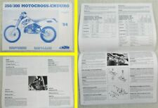 KTM 250 300 Motocross-Enduro MJ 94 Bedienungsanleitung Wartung Owners Handbook