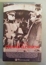 jean renoir's GRAND ILLUSION VHS VIDEOTAPE NEW factory sealed & stamped slidebox