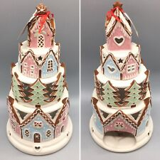 Blue Sky Clayworks Tiered Gingerbread Castle Candle House Christmas Large 14�