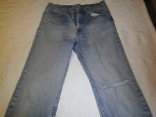 Vintage Levis jeans 517 straight leg 33x33  Orange label well worn and faded