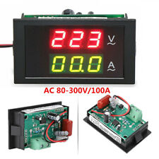 80-300V 0-100A LCD Digital Voltmeter Ammeter Current Meter Ampere Volt Amp Gauge
