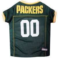 Green Bay Packers NFL Pets First Licensed Dog Pet Mesh Jersey Green,  XS-2XL NWT