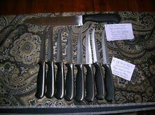 J A Henckels International Fine Edge Stainless Steel 8 Steak Knives & Chef Knife