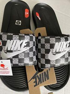 NEW Nike Victori One Men's Slide SZ 13 Sandal Black/White Just Do It CN9678 004