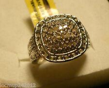 Diamond Cocktail Ring Size 7  64 diamonds  .50tcw  MSRP $944
