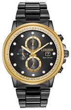 Citizen Eco-Drive Nighthawk Chronograph Crystal Accent Men's Watch FB3008-57E