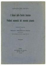 RICCI FEDERICO  I BILANCI DELLE SOCIETA ANONIME PROBLEMI ECONOMICI PRESENTE 1931