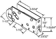 """STB Sliding Glass Door Roller, Steel Wheel, 1-1/2"""" Diameter, 25/32"""" Wide Housing"""