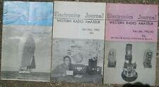 Lot of 3 Electronics Journal Magazines Formerly Western Radio Amateur 1962-1963