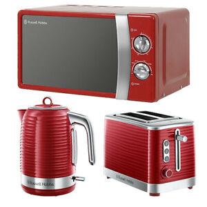 Kettle Toaster Microwave Set RHMM701R Russel Hobbs Sale Cheap Buy Red Gift