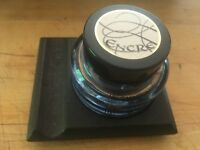 Vintage Encre Antique Inkwell Jar Wood Base Set Aladine Paris France NICE!