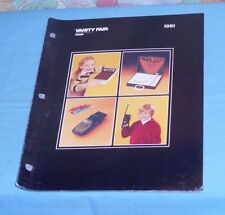 original 1981 VANITY FAIR dealers' CATALOG toys Smokey and the Bandit II