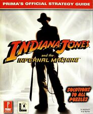 "PC GAME BOOKS - ""INDIANA JONES: INFERNAL MACHINE"" OFFICIAL STRATEGY GUIDE - NEW"