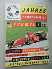 Jahresprogramm 97 Formel 1 Nürburgring  Motorrad Grand Prix