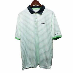 Nike Golf Tour Performance Dri-Fit Men's Polo Shirt Green Striped