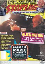 Starlog #136 Alien Nation Twilight Zone Child's Play Batman Funny Looking Aliens