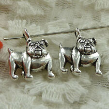 Free Ship 270 pieces Antique silver dog charms 18x13mm #1635