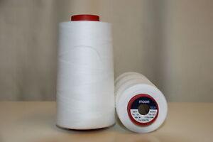Moon 5000 Yard Cone Sewing Thread Colour: White