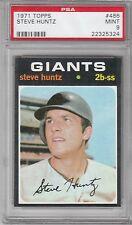 1971 Topps Baseball Steve Huntz #486 PSA 9