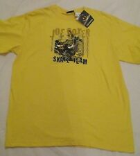 Joe Boxer Yellow Graphics 100% Cotton Skate T-Shirt Size 18 New NWT