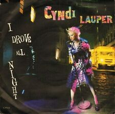 "CYNDI LAUPER i drove all night/maybe he'll know CYN 4 uk cbs 7"" PS VG/VG"