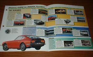 ★★1969-96 HISTORY OF DATSUN BROCHURE INFO 240Z 300ZX 260Z 280Z 280ZX FAIRLADY Z