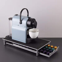 Stylish Stainless Steel 40 Coffee Capsule Storage Drawer Holder for Nespresso