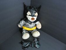 Plush Batman The Dark Knight Doll Figure Build Bear Belt Mask Gloves Super Hero