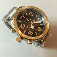 Nixon 51-30 Chrono Gold Blue Men's Wrist Watch New Color