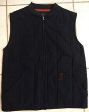 Harley Davidson 1 Black Denim canvas zip up vest Men's size medium