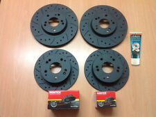 Civic Type R FN2 Front Rear Drilled Grooved MTEC Brake Discs & Mintex Pads &Lube