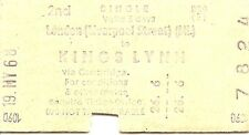 B.R.B. Edmondson Multiprinter Ticket - London Liverpool Street to Kings Lynn