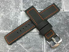 24mm Rubber Diver Strap Watch Band Maratac Orange PAM 90 Large LONG L Size