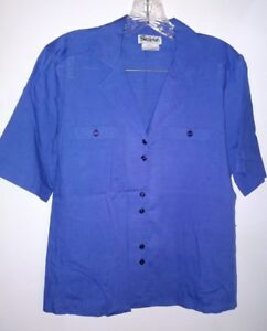 Gailord Size 6 Small SS Blue Blouse Top Dressy Casual Shirt NwoT