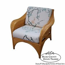 Rattan Palm Leaf Bamboo Lounge Chair