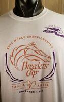 2013 30th Anniv Breeders Cup Santa Anita Horse Racing Surfside Del Mar T-Shirt L