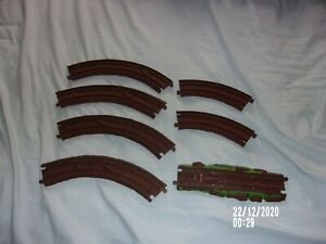 THOMAS THE TRAIN TRACKMASTER MISTY ISLAND PLAYSET TRACK LOT OF 6 BROWN TRACKS