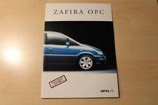 01515) Opel Zafira OPC Prospekt 08/2001