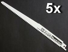 "5 x MAKITA 723055-A RECIPROCATING SAW BLADES 230mm 9"" 6TPI BJR182, BJR181, DC385"