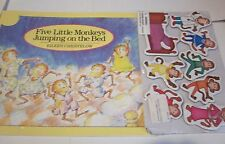 5 LITTLE MONKEYS Jumping On The Bed SC Book + 8 Lakeshore Learning Magnets PreK