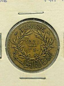 1921 Tunisia 1 Franc Coin #532