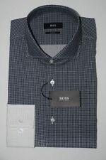 HUGO BOSS BUSINESSHEMD, Jason, Gr. 41, Slim Fit, Dark Grey