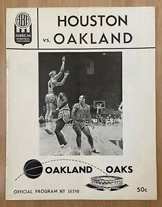 VINTAGE 1967 ABA HOUSTON MAVERICKS @ OAKLAND OAKS BASKETBALL PROGRAM -FIRST YEAR