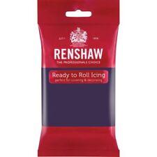 Renshaw Ready To Roll Icing Fondant Cake Regalice Sugarpaste 250g DEEP PURPLE