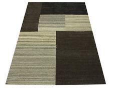 Tapis Design Miami patchwork 160x230 cm 100% laine Touffeté à la main Nature